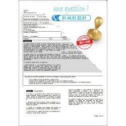 Contrat d'approvisionneur de finition - Mise sur cintre