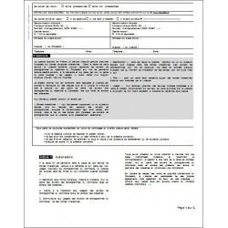 Contrat de Commis de salle