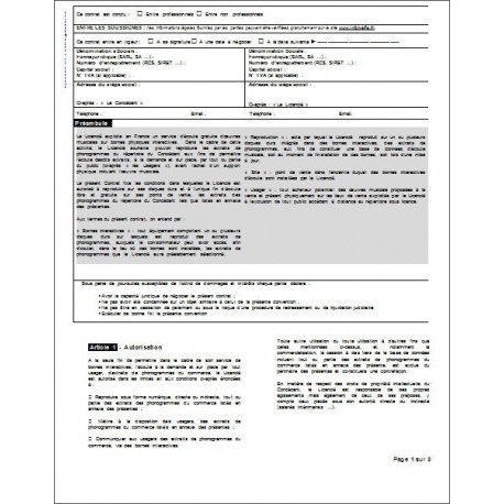 Contrat de Conducteur de groupe