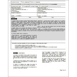 Lettre de demande d'extrait d'acte de naissance - Sans filiation
